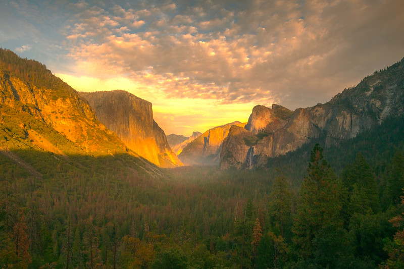 Sunrise Surprise From Tunnel View - Lower Yosemite Valley, Yosemite National Park, CA