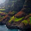 Layers Of Colored Light Along Na Pali - Na Pali Coastline, Kauai, Hawaii