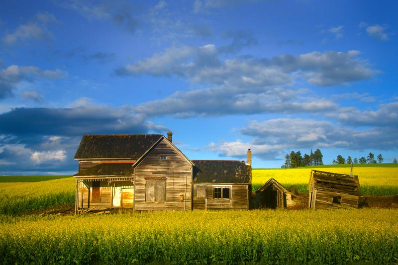 Last Light On The Webber House - The Palouse Region, Washington