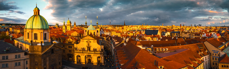 A View Of The City Of Prague From Theh Tower_Pano