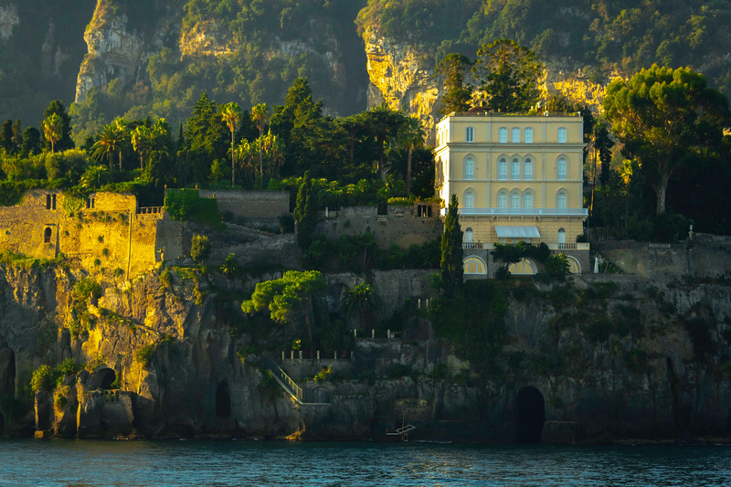 Morning Light Skimming Across The Rocks Sorrento, Italy