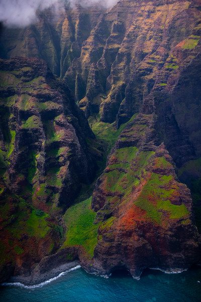 Inside The Deep Caverns Along The Na Pali Coast - Na Pali Coastline, Kauai, Hawaii