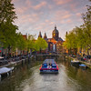 Warmth Of Sunset Glowing In Canals