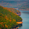 Along The Curvy Shores Of The Allegheny Reservoir- Lookout Rock Over Allegheny Reservoir, Allegheny Mountains,  Pennsylvania