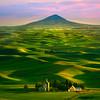 Last Light On The Hills With Steptoe In Distance - Tekoa, Palouse, WA
