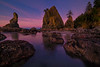 Twilight Cool Tones Set Over Shi Shi Beach_ - Shi Shi Beach, Point Of Arches, Olympic National Park, Washington
