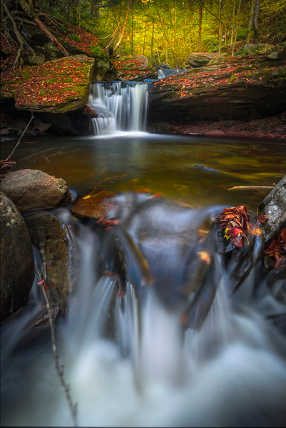 Stepping Stones Of Pools Falling One After Another-Ricketts Glen State Park, Pennsylvania