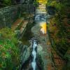 Water Cracks Through Canyon Walls