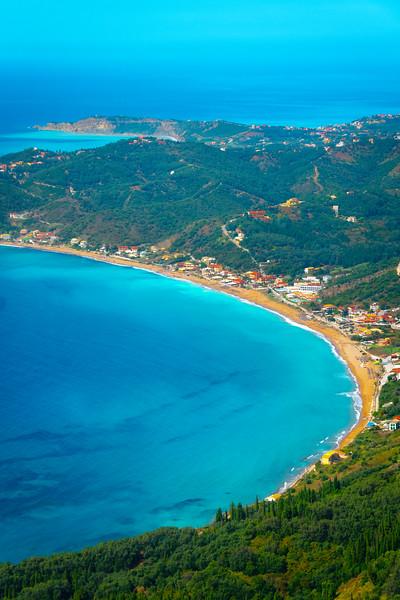 The Beautiful Beach Coastlines Of Corfu - Corfu, Greece