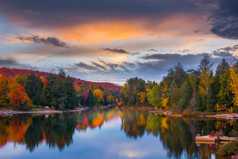 Silence On The Lake At Twilight - Algonquin Provincial Park, Nipissing, South Part, Ontario, Canada