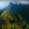 Break In The Clouds Add To The Drama Of Na Pali - Na Pali Coastline, Kauai, Hawaii
