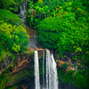 Wailua Falls From The Air  - Wailua Falls, Kauai, Hawaii