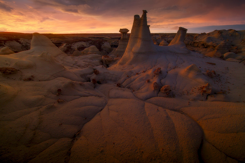 Sunset After Moments -  Bisti/De-Na-Zin Wilderness, New Mexico