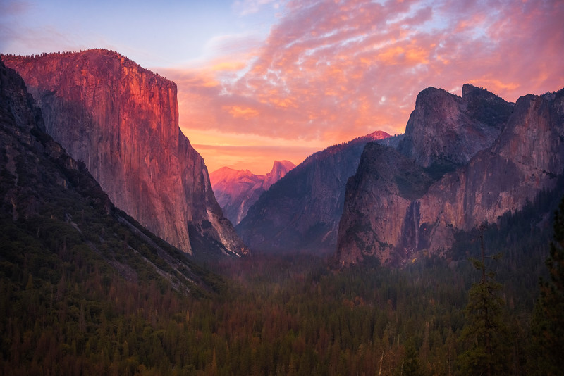 Tunnel View After Sunset - Lower Yosemite Valley, Yosemite National Park, CA