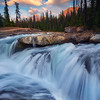 Natural Bridge Sunset - Natural Bridge, Yoho National Park, Field, BC, Canada