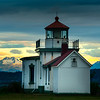 Lighthouse Between Mountain Peaks - West Point Lighthouse, Discover Park, Seattle, WA
