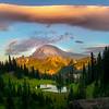 Pano From Above Tipsoo Lake And Lenticular Cloud - Tipsoo Lake, Mt Rainier NP, WA