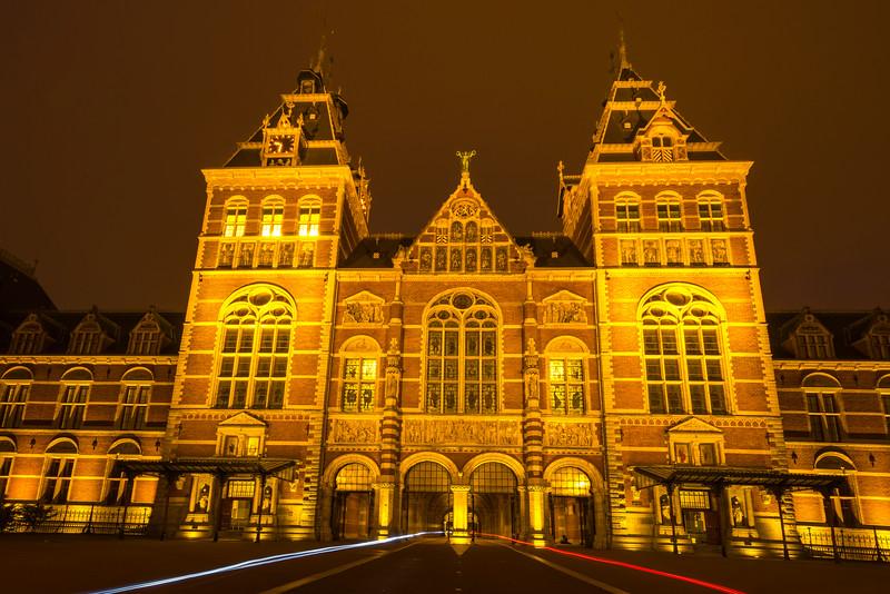 The Iconic Rijksmuseum At Night