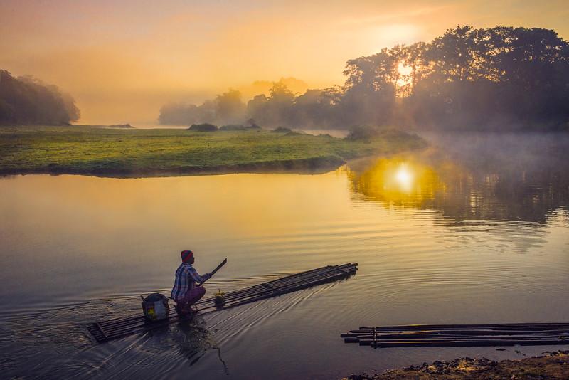 Sailing Into The Sunrise - Kaziranga National Park, Assam, North-Eastern India