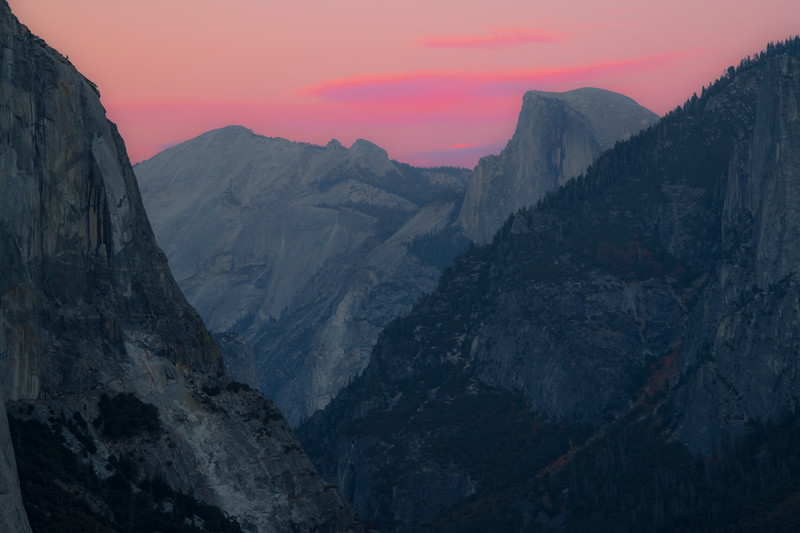 Half Dome From Tunnel View And Twilight - Lower Yosemite Valley, Yosemite National Park, California