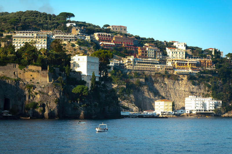 Sorrento Cliffs In Morning Sorrento, Italy