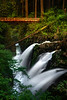 Sol Duc Falls And New Bridge - Sol Duc Falls, Sol Duc Valley, Olympic National Park,, Washington