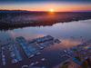 The Last Of The Sun Setting Over The Olympia Harbor - Olympia, Washington