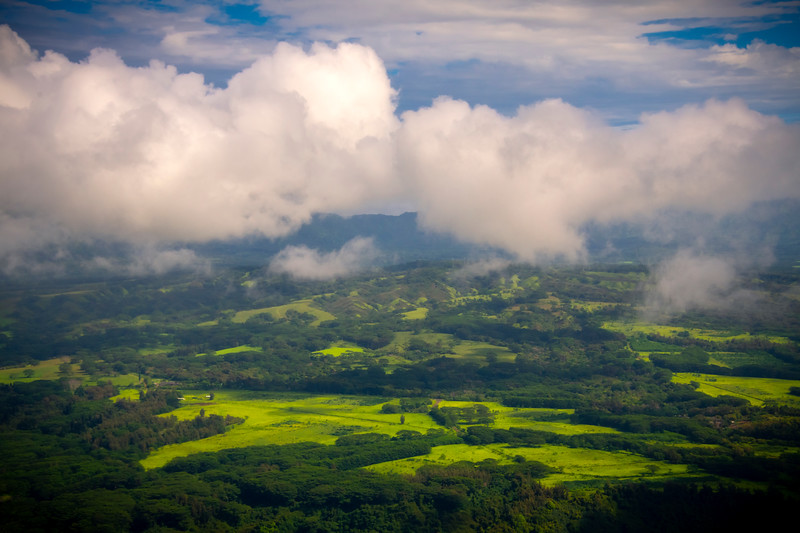 Rising Clouds Over The Valley -  East Shore Of Kauai, Hawaii