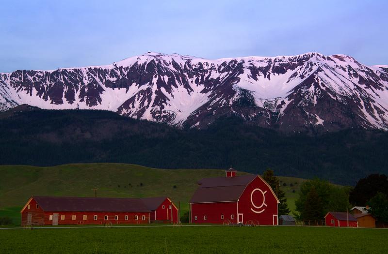 Farm Life Under The Wallowa Mountains Wallowa County, Oregon