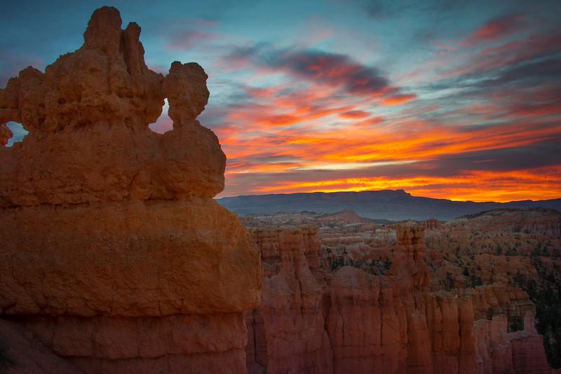 The Bryce Canyon Mask At Sunrise - Bryce Canyon National Park, Utah