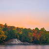 Sunset Starting Along Lake George Shoreline - Algonquin Provincial Park, Nipissing, South Part, Ontario, Canada