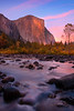 El Captain At Sunset From Valley View - Lower Yosemite Valley, Yosemite National Park, California