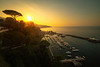 Sunset Going Down On The Cliffs Of Sorrento Sorrento, Italy