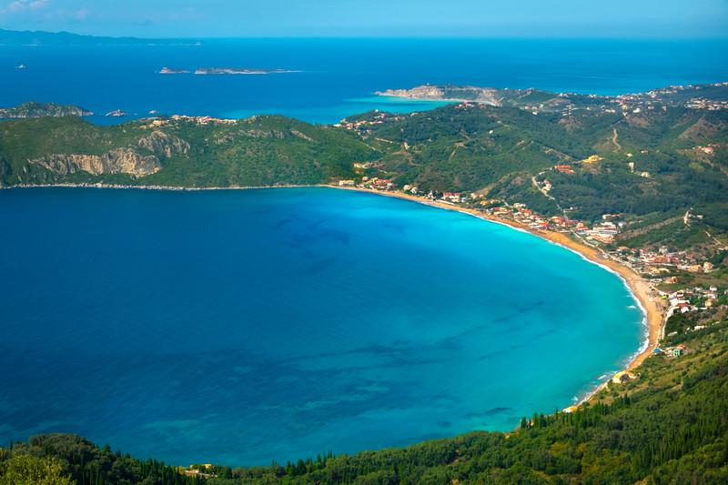 The Beautiful View Of Agios Georgios and the Ionian Islands -  Corfu, Greece