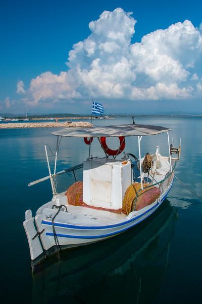 Olympia Marina Dressed In Blues - Marina Port,  Olympia, Greece