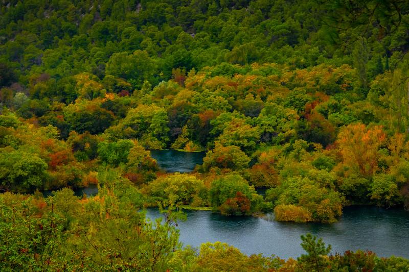 Valley Floor Changing Colors - Krka National Park, Split, Croatia