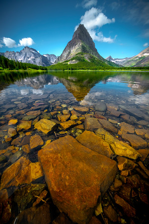 As Clear As Glass - Swiftcurrent Lake, Many Glacier, Glacier National Park, Montana