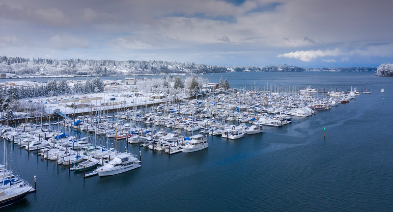 Looking Into A Snowy Bay In Olympia