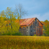 An Colorful Barn Lays In Color