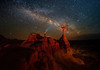 Toadstool Hoodoos And Admirer Of The Stars - Toadstool Hoodoos, Kanab, Utah