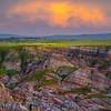 Sunset Rain Showers Over The Canyon Casper, Wyoming