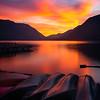 Sunset Moments On Lake Crescen - Lake Crescent Lodge, Olympic National Park, WA
