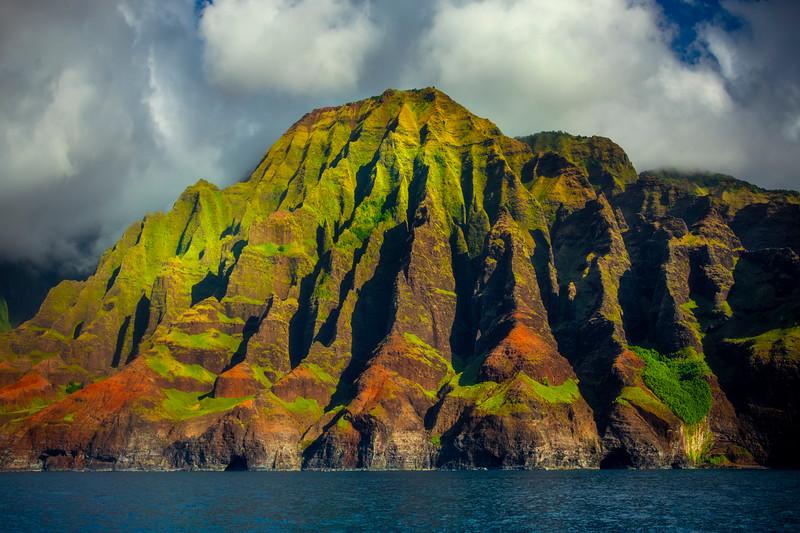 The Sacred Mountain - Na Pali Coastline, Kauai, Hawaii