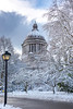 Winter Framed Capital Building