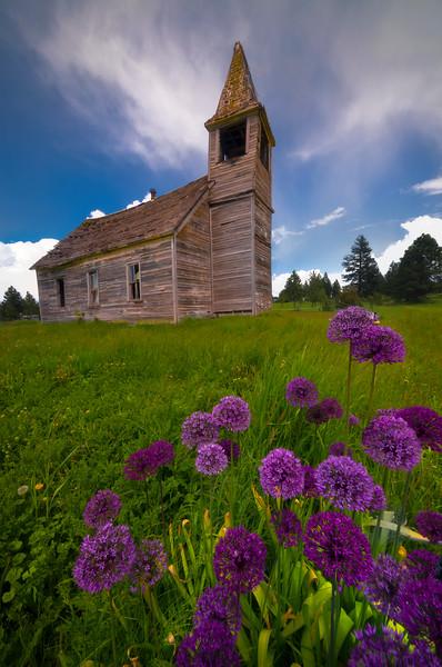 The Falling Schoolhouse Of Time Wallowa County, Oregon