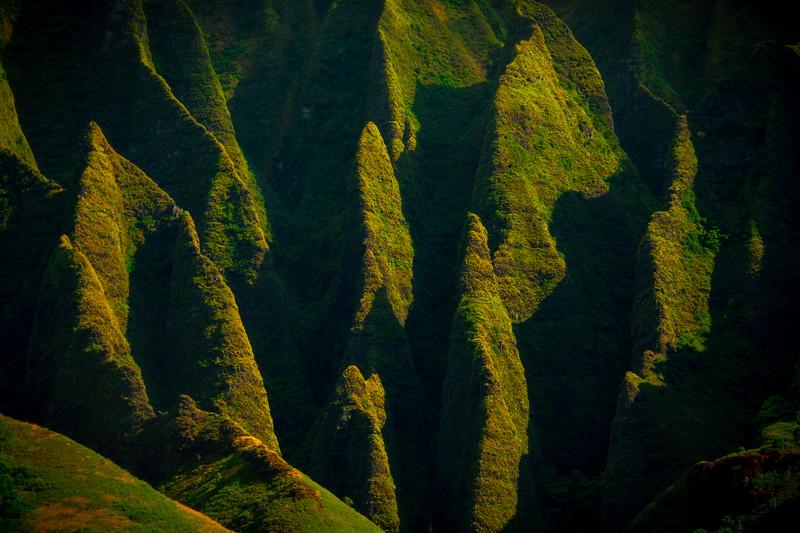 Abstract View Of The Na Pali - Na Pali Coastline, Kauai, Hawaii