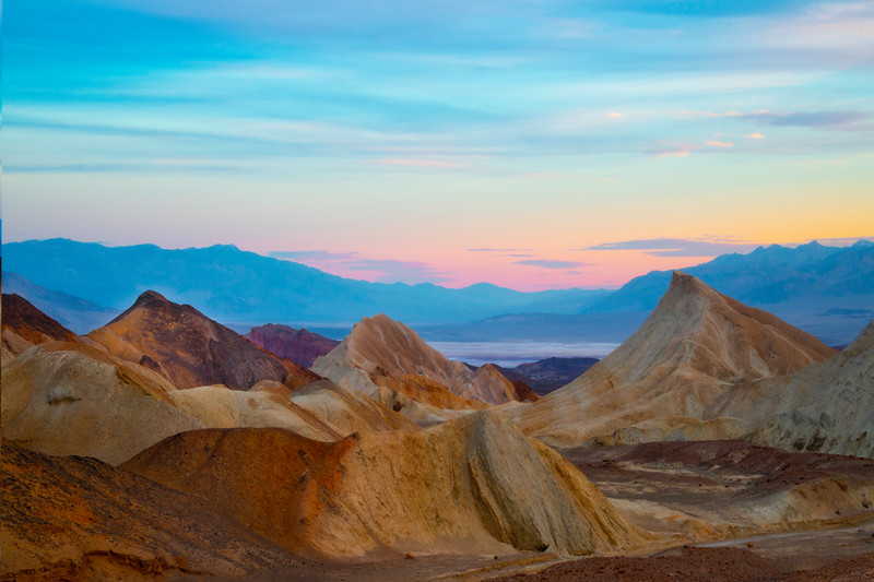 Abstract Horizon Of Death Valley - Death Valley National Park, Eastern Sierras, California