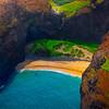A Secluded Beach Along The Na Pali Coast - Na Pali Coastline, Kauai, Hawaii