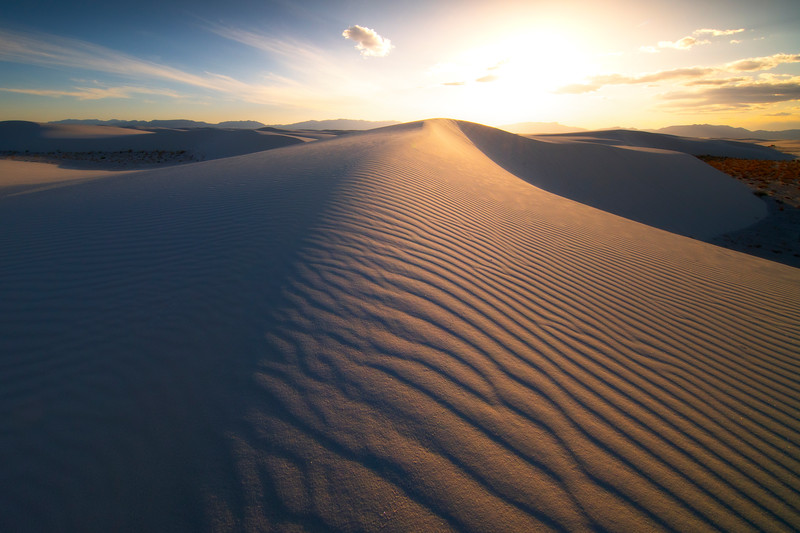 Walking Into The Light - White Sands National Monument, New Mexico