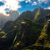 Along The Rock Wall Of Spires - Na Pali Coastline, Kauai, Hawaii